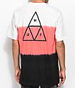 HUF Dip Dye Natural, Pink & Black T-Shirt