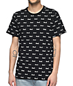 HUF Domestic All Over Print Black T-Shirt