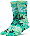HUF Field Daze Plantlife Green Crew Socks