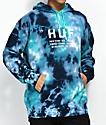 HUF Global Blue Tie Dye Hoodie