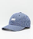 HUF Hickory Navy Pinstripe Strapback Hat