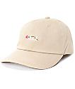 HUF La Vie En Rose Khaki Baseball Hat