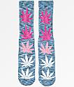 HUF Melange Plantlife Blue & Pink Crew Socks
