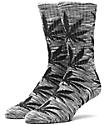 HUF Melange Plantlife Grey & Black Crew Socks