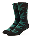 HUF Plantlife Black & Green Crew Socks