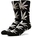 HUF Plantlife Glow In The Dark Crew Black and White Socks