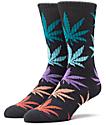 HUF Plantlife Melange Black, Teal, Red, & Purple Crew Socks