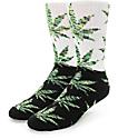 HUF Plantlife Melange Black & Green Color Block Crew Socks