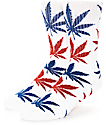 HUF Plantlife Red, White & Navy Crew Socks