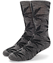 HUF Plantlife Streaky Black Crew Socks