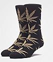 HUF Plantlife Tinsel Black & Gold Crew Socks