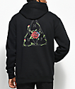 HUF Roses Triple Triangle Black Pullover Hoodie