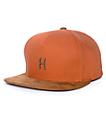 HUF Small Metal H Rust Strapback Hat