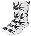 HUF Streaky Plantlife Grey & Black Crew Socks