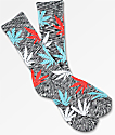 HUF Streaky Plantlife Red, White & Blue Crew Socks