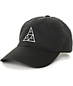 HUF Triangle Black Baseball Strapback Hat