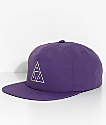 HUF Triple Triangle Purple Snapback Hat