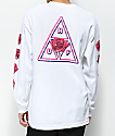 HUF Triple Triangle Rose White Long Sleeve T-Shirt
