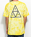 HUF White Wash Yellow Tie Dye T-Shirt