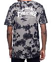 HUF x Thrasher TDS camiseta en lavado negro cristal