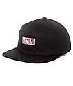 Hall Of Fame Backboard Black Strapback Hat
