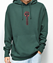 Hardies Hardware Bolt Icon Forest Green Hoodie