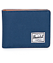 Herschel Supply Co. Hank Navy & Tan Bi Fold Wallet