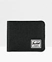 Herschel Supply Co. Roy Black Canvas Bifold Wallet
