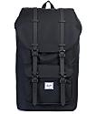 Herschel Supply Little America Black on Black Rubber 17L Backpack