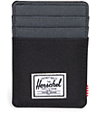Herschel Supply Raven Black & Dark Shadow Cardholder Moneyclip Wallet