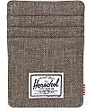 Herschel Supply Raven Canteen Crosshatch Cardholder Moneyclip Wallet