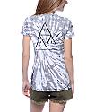 Huf Triangle Grey Tie Dye T-Shirt