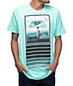 Imaginary Foundation Moon Surfer Pastel Green T-Shirt