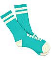 Imperial Motion Chill Seeker Type Mint & Cream Crew Socks