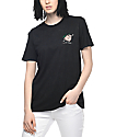 Imperial Motion Just Peachy Mineral Wash Black T-Shirt