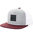 Imperial Motion Lark Heather Grey, Maroon, & White Trucker Hat