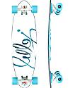 "Jelly Man O' War 34"" Aqua Pintail Longboard Complete"