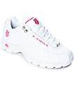 K-Swiss ST329 White & Shocking Pink Shoes