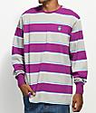 LRG Striped Purple Long Sleeve Shirt