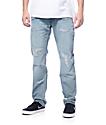 LRG True Taper Damaged Grey Regular Fit Jeans