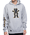 LRG X Grizzly Boss Bear Grey Pullover Hoodie