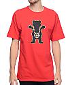 LRG X Grizzly Boss Bear Red T-Shirt
