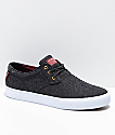 Lakai Daly Black Jersey Textile Skate Shoes