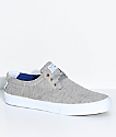 Lakai Daly Grey & Heather White Skate Shoes