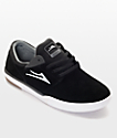 Lakai Fremont Black & White Skate Shoes
