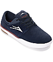 Lakai Fremont Navy, White & Red Suede Skate Shoes