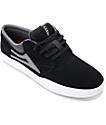 Lakai Griffin XLK Black, Grey & White Suede Skate Shoes