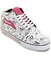 Lakai Lena Dunham Fura White High Top Shoes (Womens)