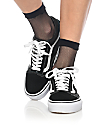Leg Avenue Black Fishnet Anklet Socks