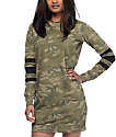 Love, Fire Camo Sweatshirt Dress